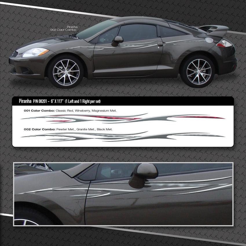 Piranha Automotive Vinyl Graphic Shown On Mitsubishi