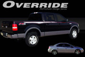 OVERRIDE : Universal Style Vinyl Graphics Kit  An original vinyl graphic style that makes a great addition to the Ford F-Series F-150! Also perfect for any straight bodyline applications . . . Pre-cut pieces ready to install. A fantastic addition to your vehicle, using only Premium Cast 3M, Avery, or Ritrama Vinyl!