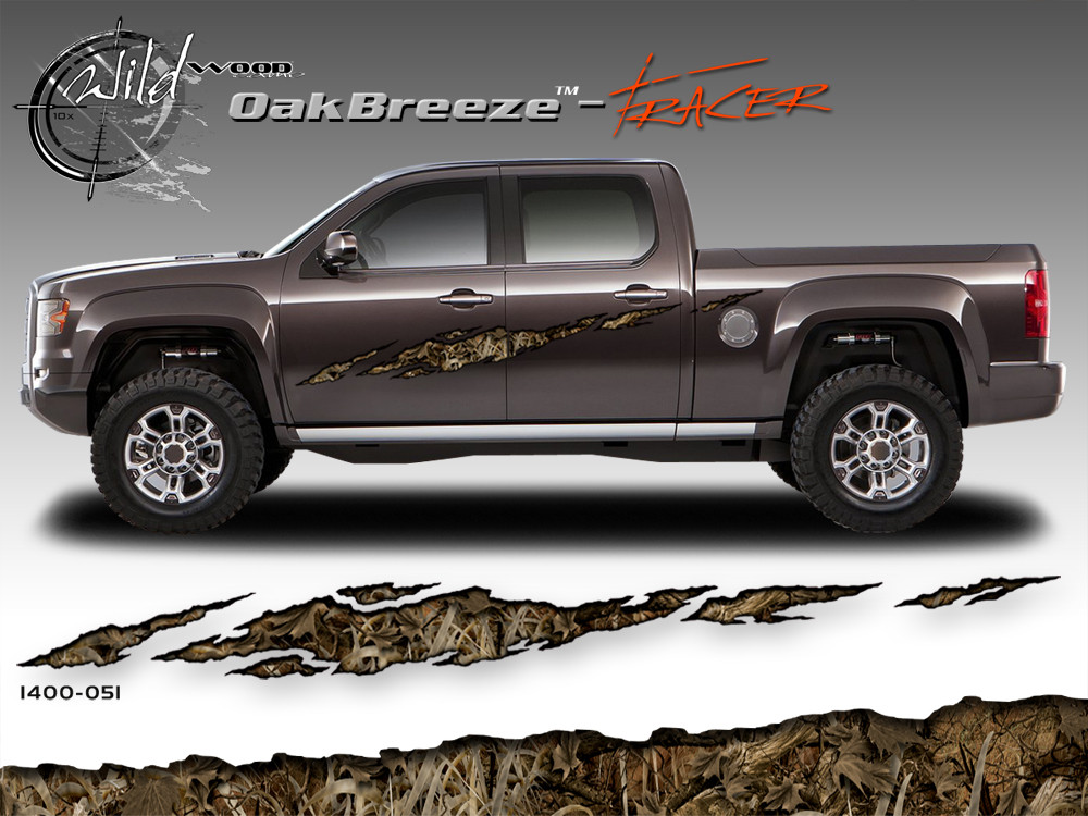 Oak Breeze Wild Wood Camouflage Tracer Body Side Vinyl