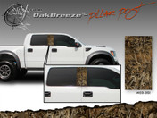 Oak Breeze Wild Wood Camouflage : Pillar Post Decal Vinyl Graphic 22 inches x 12 inches