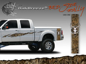Oak Breeze Wild Wood Camouflage : Bed Side Rally with Deer Skull 12 inches x 42 inches