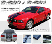 "Mustang WILDSTANG S-500 : Lemans GT500 Style Vinyl Racing Stripe Kit for 2005-2009 Ford Mustang GT - Complete Factory ""OEM"" Style Vinyl Racing and Rally Stripes Kit for the 2005-2009 Ford Mustang GT! Pre-cut pieces ready to install. A fantastic addition to your vehicle, using only Premium Cast 3M, Avery, or Ritrama Vinyl!"