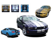 "Mustang STAMPEDE : ""OEM"" Lemans Style 2010-2012 Ford Mustang Racing and Rally Stripes Kit - Professional Vinyl Racing Stripes Graphics Kit for the 2010-2012 Ford Mustang! Give a modern muscle car look to your new Mustang that will set your ride apart! Three different options that will fit any style 2010-2012 Mustang. See details for all options available for this kit . . ."