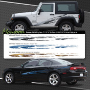 MONSOON : Automotive Vinyl Graphics Shown on Dodge Charger and Jeep Wrangler (M-08850)