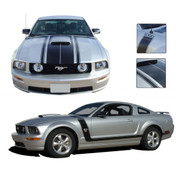 "Mustang FASTBACK 2 : ""BOSS"" Style 2005-2009 Ford Mustang Vinyl Graphics Kit - Factory Style ""BOSS"" Vinyl Graphics Kit for the 2005-2009 Ford Mustang! Great alternative to rally stripes, gives a retro muscle car look that will set your Mustang apart!"