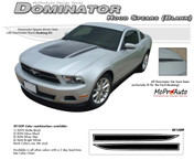 "Mustang DOMINATOR (Solid Hood Spears Only) : 2010-2012 Ford Mustang Graphics Kit - * NEW Vinyl Graphics Kits for the 2010-2012 Ford Mustang! Give a modern muscle car look to your new Mustang that will set your ride apart! Left and Right ""Solid"" Hood Spears Included!"