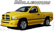 MILLENIUM : Vinyl Bodyline Striping and Decals - Professional Vinyl Graphics Kit - Rocker Panel Fade Design for lower panel applications! Perfect for Dodge, Chevy and Ford Trucks!