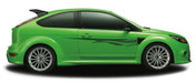 FUEL : Automotive Vinyl Graphics and Decals Kit - Shown on TWO DOOR HATCHBACK (M-854)