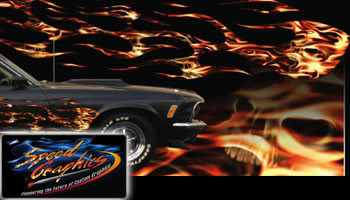 Flame Thrower High Definition Automotive Vinyl Graphics