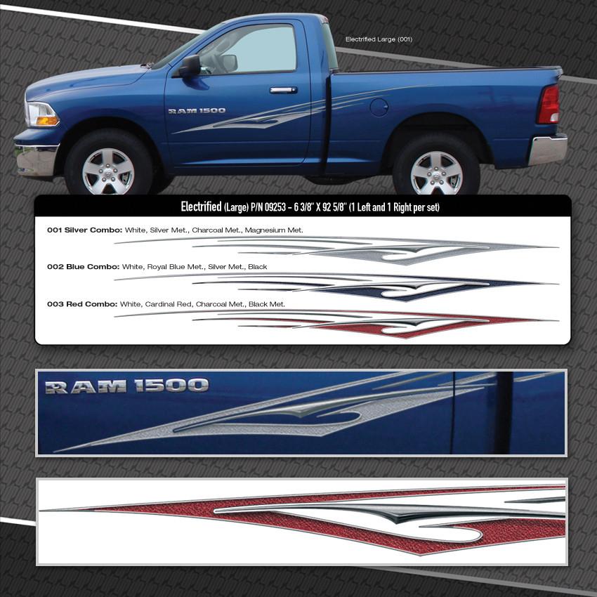 Electrified Large Automotive Vinyl Graphics Shown On Dodge Ram 1500 Moproauto Vinyl