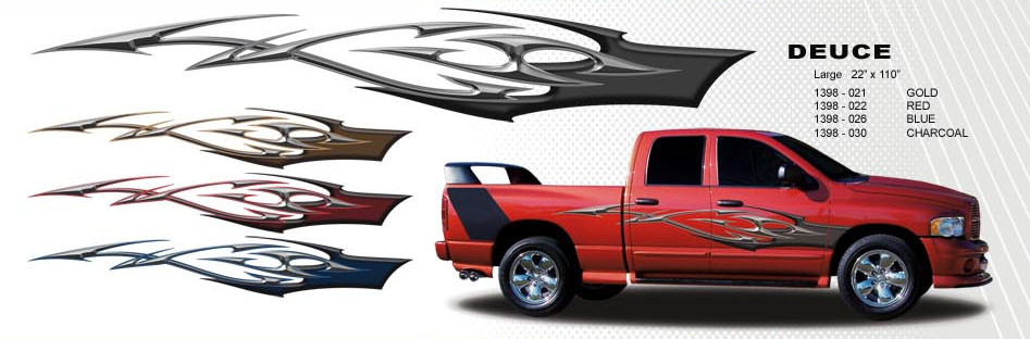DEUCE Automotive Vinyl Graphics And Decals Kit Shown On DODGE - Truck bed decals custombody graphicsdodge ram