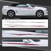 DAGGER : Automotive Vinyl Graphics Shown on Chevy Camaro (M-08101)