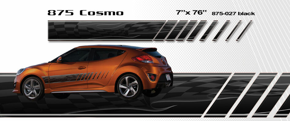 COSMO Automotive Vinyl Graphics And Decals Kit Shown On - Auto graphics for carillusionsgfx custom automotive graphics