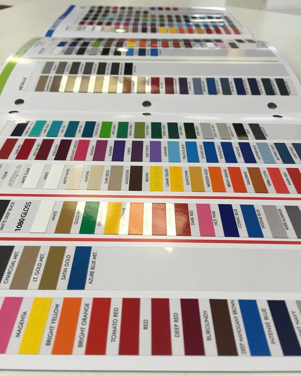 COLOR CHART : 3M / Avery / Ritrama Vinyl Colors ...