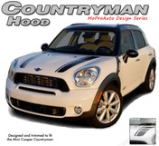 COUNTRYMAN HOOD : Mini Cooper Vinyl Graphics Kit - Mini Cooper COUNTRYMAN HOOD Vinyl Graphics, Stripes and Decal Kit! Hood Decals Included. Pre-Designed pieces ready to install, using only Premium Cast 3M, Avery, or Ritrama Vinyl!