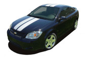 COBALT RALLY : Racing Stripe Kit for Chevy Cobalt or Pontiac G5 - Vinyl Racing Stripes and Decals Package for the Chevy Cobalt! Choose from 4 ready to ship and easy to install colors! Optional Colors also available! A fantastic addition to your vehicle, using only Premium Cast 3M, Avery, or Ritrama Vinyl!