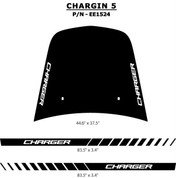 "CHARGIN 5 : ""Charger"" Style Vinyl Graphics Kit for 2006 - 2010 Dodge Charger - ""Charger"" Style Hood and Rocker Panel Vinyl Stripes, for the Dodge Charger 2006 - 2010! Hood, Rocker Panel Decals Included. Professional Style Vinyl Graphics Kit - Pre-Cut and Designed, Ready to Install! For Automotive Restylers and Dealers!"