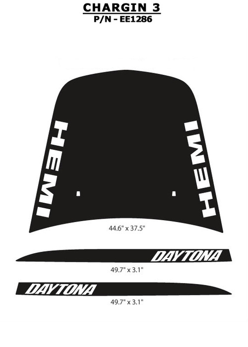 Chargin 3 Quot Hemi Quot And Quot Daytona Quot Style Vinyl Graphics Kit