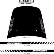 "CHARGIN 4 : ""Hemi"" Hood - ""Daytona"" Rocker Panel Vinyl Graphics Kit 2006 - 2010 Dodge Charger - Dodge ""Hemi"" Hood, ""Daytona"" Rocker Panel Factory Style Vinyl Graphics Package, for the 2006 - 2010 Dodge Charger! Hood, Rocker Panel Graphics Included. Professional Style Vinyl Graphics Kit - Pre-Cut and Designed, Ready to Install! For Automotive Restylers and Dealers!"