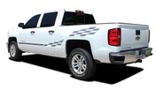 CHAMP : 2014 2015 2016 2017 2018 Chevy Silverado or GMC Sierra Checkered Flag Bed Side Vinyl Graphic Decal Stripe Kit (M-PDS-2363)