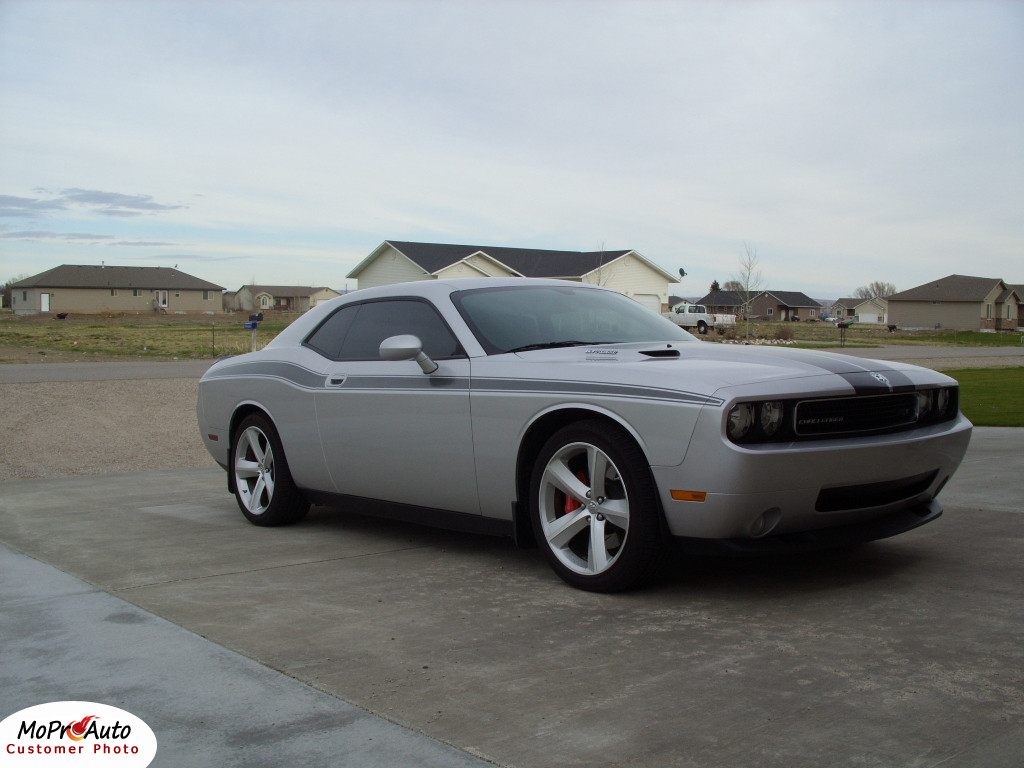 Challenger Classic Track Stripes Vinyl Graphic Upper Door Accent Decal Striping Kit For 2008