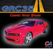 Camaro Hood Spears Stripes : 2010-2013 Vinyl Graphics Kit (M-GRC35)