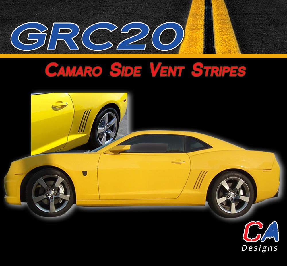 2010 2015 Camaro Vent Blackout Stripes Vinyl Graphics