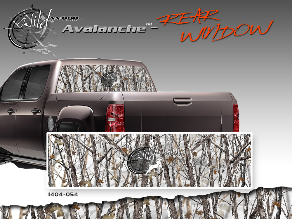 Avalanche Wild Wood Camouflage Rear Window Quot See Through Quot Film Graphic Kit 24 Inches X 65