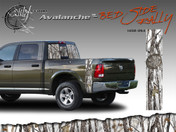 Avalanche Wild Wood Camouflage : Bed Side Rally with Logo 12 inches x 42 inches Amazing style featuring Wild Wood Camo with a logo embed. This bed side vinyl graphic is available in 4 different camo color styles! Includes driver and passenger sides, size 12 inches by 42 inches each.