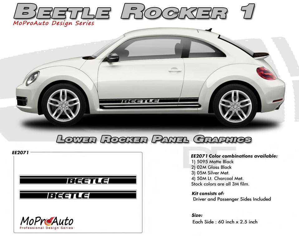 BEETLE ROCKER 1 : Lower Rocker Panel Vinyl Graphics Kit for 98 99 2000 ...