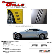 Chevy Camaro Original Gill Stripes! Engineered specifically for the new Camaro, this kit will give you a factory OEM upgrade look at a discount price! Pre-cut pieces ready to install! (Fits All Models)