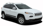 2013 2014 2015 2016 2017 Jeep Cherokee Lower Rocker Vinyl Graphics Decal Stripe BRAVE Vinyl Graphics Kit! Engineered specifically for the new Jeep Cherokee, this kit will give you a factory OEM upgrade look at a discount price! Pre-trimmed sections ready to install! Fits Jeep Cherokee Lower Side Rocker Panels . . .