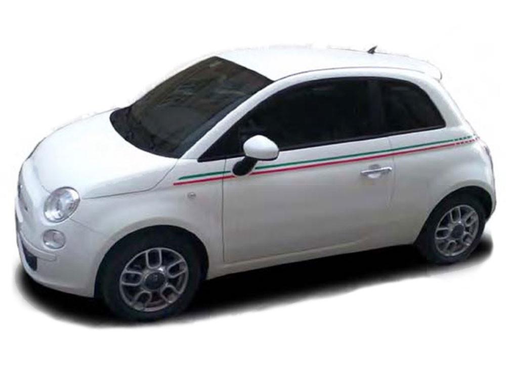 2011 2017 Se 5 Italian Stripe Fiat 500 Abarth Vinyl Graphics Kit Moproauto Vinyl Graphics
