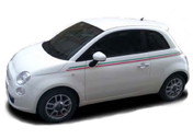 SE 5 ITALIAN STRIPE : Fiat 500 Vinyl Graphics Kit! Fiat 500 Abarth Vinyl Graphics, Stripes and Decal Kit! Italian Side Stripes - Pre-cut pieces ready to install, using only Premium Cast 3M, Avery, or Ritrama Vinyl!