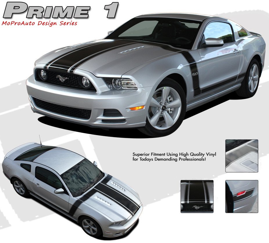 PRIME   Ford Mustang BOSS  Style Vinyl Graphics - Vinyl graphics for a car