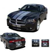 N-CHARGE RALLY : Vinyl Graphics Racing Stripes Kit for Dodge Charger - Complete Racing Stripes Kit for the Dodge Charger 2011-2014 Models! Pre-cut decal pieces ready to install, using only Premium Cast 3M, Avery, or Ritrama Vinyl!