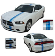Euro European Style Rally Stripes Kit for 2011-2014 Dodge Charger! Pre-Designed and trimmed pieces ready to install, using only Premium Cast 3M, Avery, or Ritrama Vinyl!