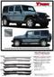 TREK : Jeep Wrangler Side Door Fender to Fender Vinyl Graphics Decal Stripe Kit - Detailed Information