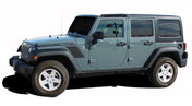 Jeep Wrangler RUNDOWN Vinyl Graphics Kit! Engineered specifically for the new Jeep Wrangler, this kit will give you a factory OEM upgrade look at a discount price! Pre-trimmed sections ready to install! Fits Jeep Wrangler Hoods . . .