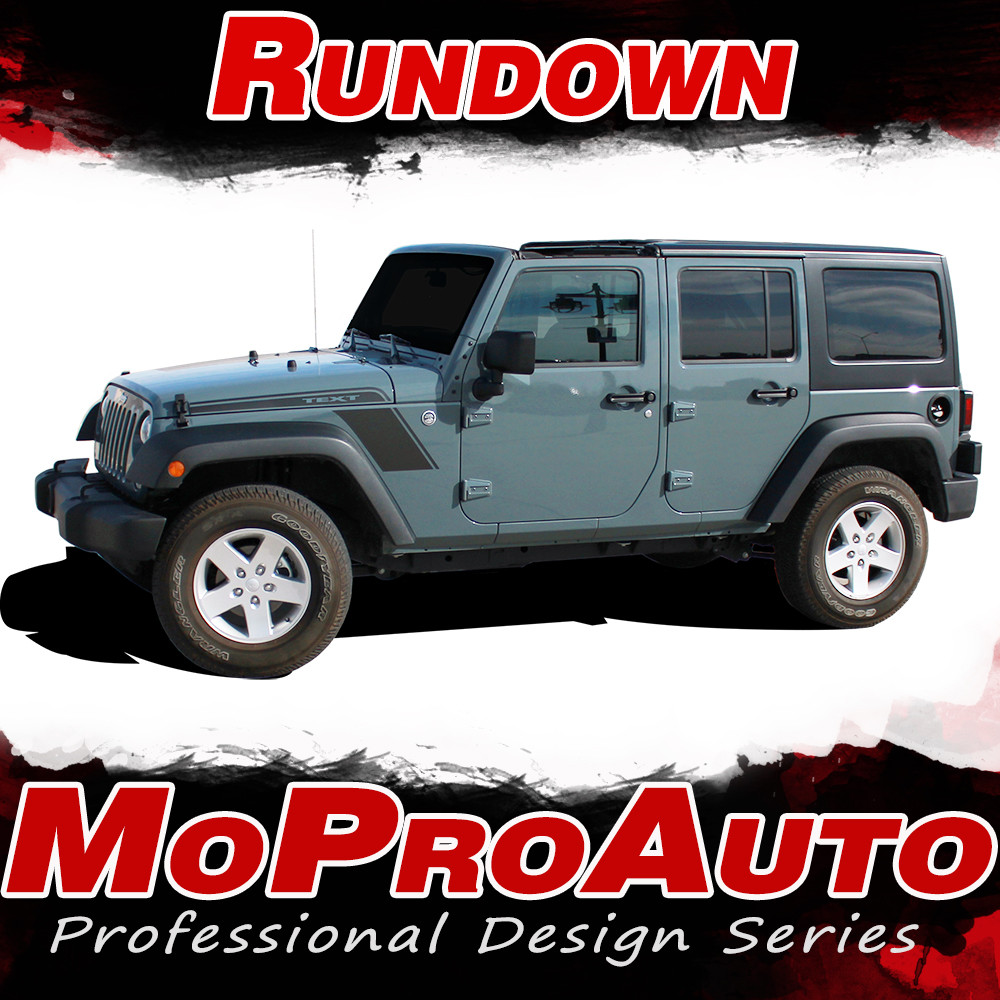 rundown : jeep wrangler hood to fender vinyl graphics decal stripe