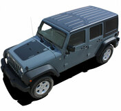 Jeep Wrangler 2007 2008 2009 2010 2011 2012 2013 2014 2015 2016 2017 OUTFITTER Vinyl Graphics Kit! Engineered specifically for the new Jeep Wrangler, this kit will give you a factory OEM upgrade look at a discount price! Pre-trimmed sections ready to install! Fits Jeep Wrangler Hoods . . .