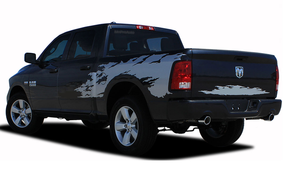RAM RAGE SOLID Dodge Ram Power Wagon - Truck bed decals custombody graphicsdodge ram
