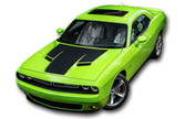 "Challenger HOOD : Factory OEM ""R/T Modern"" Style Vinyl Racing Stripes for 2015 2016 2017 2018 Dodge Challenger! Factory ""OEM Style"" Solid Racing Hood Stripes, Graphics, and Decal Set for the Dodge Challenger! Ready to install . . . A fantastic customization with graphics that fit, using only Premium Cast 3M, Avery, or Ritrama Vinyl!"