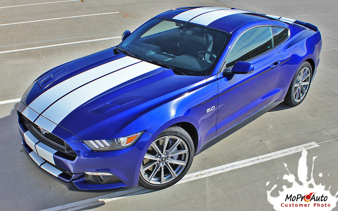 """Cost Of A Hummer 2017 >> STALLION : 2015 2016 2017 Ford Mustang Lemans Style 10"""" Wide Racing and Rally Stripes Vinyl ..."""