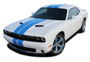 "Challenger RALLY 2 : Factory OEM Style Vinyl Graphic Racing Stripes for 2015 2016 2017 2018 Dodge Challenger! Complete Factory ""OEM Style"" 10"" Wide Solid Racing Hood Stripes, Graphics, and Decal Set for the New Dodge Challenger! Ready to install . . . A fantastic customization with graphics that fit, using only Premium Cast 3M, Avery, or Ritrama Vinyl!"