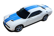 "Challenger RALLY PLUS : Factory OEM Style Vinyl Graphic Racing Stripes for 2015 2016 2017 2018 Dodge Challenger! Complete Factory ""OEM Style"" 10"" Wide Solid Racing Stripes with ""WINGED"" Hood -  Graphics, and Decal Set for the New 2015 2016 2017 2018 Dodge Challenger! Ready to install . . . A fantastic customization with graphics that fit, using only Premium Cast 3M, Avery, or Ritrama Vinyl! - Details"