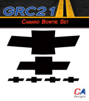 2010-2013 Chevy Camaro Bowtie Decal Set (M-GRC21)