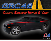 2010-2015 Chevy Camaro Extended Honor and Valor Vinyl Stripe Kit (M-GRC46)