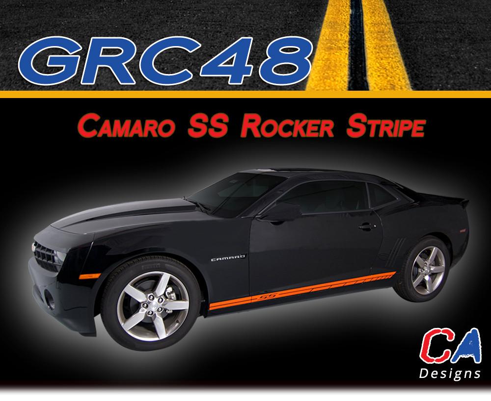 2010 2015 Chevy Camaro Ss Rocker Vinyl Stripe Kit