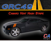 2010-2015 Chevy Camaro Vent Hood Hash Marks Vinyl Stripe Kit (M-GRC49)